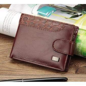 Mahkazi กระเป๋าสตางค์(ทรงสั้น) กระเป๋าสตางค์ผุ้ชาย กระเป๋าเงิน กระเป๋าใส่เงิน เป๋าตังค์ รุ่นPLS2
