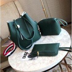 ขาย Major Fashionเซ็ต 3 ใบ กระเป๋าสะพายข้าง กระเป๋าสตางค์ผู้หญิง กระเป๋าแฟชั่น กระเป๋าถือผู้หญิง รุ่น Mz 03 ถูก