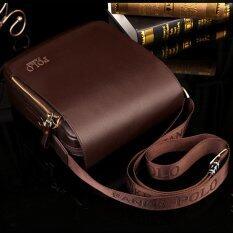 ชายไหล่ห่อกระเป๋าถือกระเป๋าเอกสารกระเป๋าทุกคนนำกระเป๋าเป้กระเป๋าหนังขนาดเล็กธุรกิจสบาย ๆ ตาย แนวตั้ง สีน้ำตาล กลางขนาด จีน