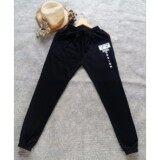 Mama Shop กางเกงวอร์มขายาว สีดำ ลาย Mama Design สีขาว ผ้าสำลี ผ้านิ่มใส่สบาย รุ่น Mb 009 เป็นต้นฉบับ