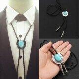 ราคา M F Western Men S Bolo Neck Tie Horseshoe Stone Turquoise Silver Intl ที่สุด
