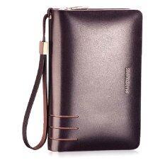 ราคา Man Rewards กระเป๋าสตางค์หนังแท้ Wl T3310 สีน้ำตาลใบใหญ่ Pp ถูก
