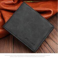 ขาย Man Short Wallet Multi Wallet Card Business Soft Leather Retro Korean Thin Style Youth Student Leisure Simple Fashion Intl Haotom เป็นต้นฉบับ