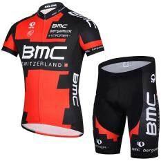 ซื้อ Man S Cycling Jersey Short Sleeve Suit Mountain Bike Clothing Riding Apparel And Equipment Red Intl Intl ใหม่