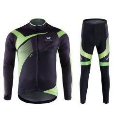 ราคา Mans Bike Clothes กางเกงขายาวฤดูใบไม้ผลิกางเกงขายาวชุดเดินทาง สีดำ เขียว Intl จีน