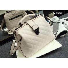 ราคา Marian กระเป๋า กระเป๋าถือสีขาว กระเป๋าสะพายสีขาวสำหรับผู้หญิง รุ่น B034 สีขาว Marian Thailand