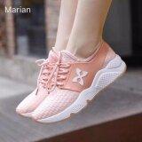ส่วนลด Marian รองเท้า รองเท้าผ้าใบแฟชั่น รองเท้าผ้าใบผู้หญิงสีชมพู รุ่น A016 Pink Marian