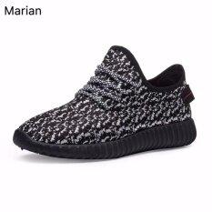 ขาย Marian รองเท้า รองเท้าผ้าใบสีดำผู้ชาย No A047 Black Grey ถูก