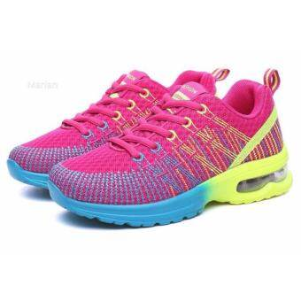 Marian รองเท้าผ้าใบผู้หญิง รองเท้าแฟชั่นสไตล์เกาหลี No.A054- (สีฟ้า+ชมพู)