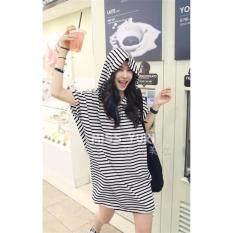 ขาย ซื้อ Marian ชุดนอนกระโปรงผู้หญิง ชุดนอนน่ารักๆ สไตล์เกาหลี เนื้อผ้านิ่มใส่สบาย No D013ลายขาว ดำ ใน กรุงเทพมหานคร