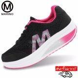 ซื้อ Marino รองเท้าผ้าใบ รองเท้าเพิ่มความสูงสำหรับผู้หญิง No A013 Black Pink ใหม่