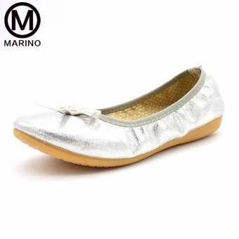 Marino รองเท้าผู้หญิง รองเท้าคัชชู รองเท้าแฟชั่นสตรีแบบพับได้   No.A018 - Sliver