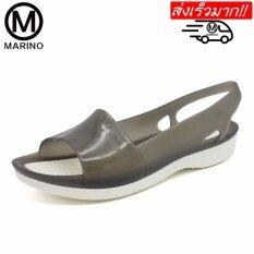 Marino รองเท้าลำลองผู้หญิง รองเท้ารัดส้นแฟชั่น No.a029 - Black.