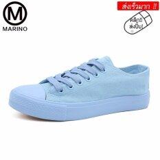 ขาย Marino รองเท้าผ้าใบ รองเท้าผ้าใบผู้หญิง No A037 Bule ใหม่