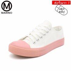 ราคา Marino รองเท้าผ้าใบ รองเท้าผ้าใบผู้หญิง No A042 สีพีช ใหม่