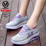 ขาย Marino รองเท้าผ้าใบ รองเท้าเพิ่มความสูงสำหรับผู้หญิง No A013 Grey Purple ถูก