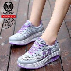 ความคิดเห็น Marino รองเท้าผ้าใบ รองเท้าเพิ่มความสูงสำหรับผู้หญิง No A013 Grey Purple
