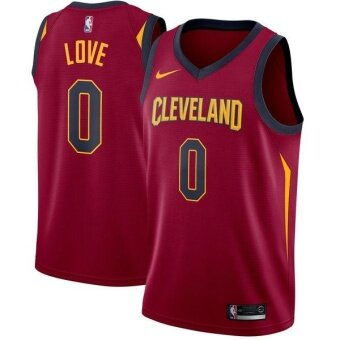 Maroon Swingman Player Number 0 Kevin Love Men's NBA Cleveland Cavaliers Basketball Jersey Alternate Official Soft size XXL Icon Edition - intl