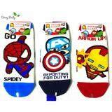 ส่วนลด Marvel Socks ผลิตภัณฑ์ลิขสิทธิ์ ถุงเท้าผู้ชาย Spider Man Captain America Iron Man 3 คู่ Made In Korea