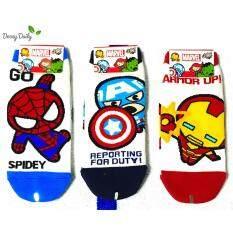Marvel Socks ผลิตภัณฑ์ลิขสิทธิ์ ถุงเท้าผู้ชาย Spider Man Captain America Iron Man 3 คู่ Made In Korea เป็นต้นฉบับ