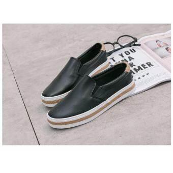Marverlous New Fashion รองเท้าผ้าใบแฟชั่นผู้หญิง-ผู้ชาย No.6075 - Black
