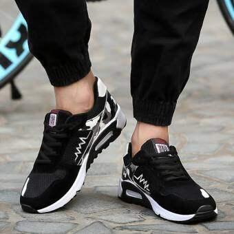 Marverlous New Fshion รองเท้าผ้าใบ รองเท้าผ้าใบผู้ชาย รองเท้าแฟชั่น XD9 - Black