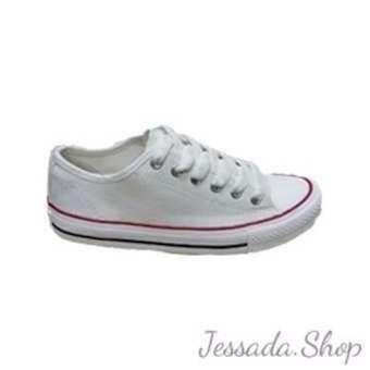 รองเท้าผ้าใบ Mashare (ขอบสีแดง)