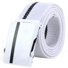 ขาย Matteo เข็มขัดผู้ชาย Men S Belt เข็มขัดผ้าแคนวาส B12Xx สีขาว White ถูก ใน Thailand