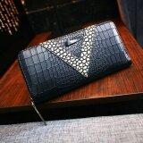 ส่วนลด สินค้า Maylin Bags กระเป๋าสตางค์ใบยาว ผู้หญิง กระเป๋าสตางค์น่ารัก กระเป๋าเงินผู้หญิง รุ่น Mw 104 สีดำ