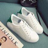 Maylin Shoes รองเท้าผ้าใบผู้หญิง รองเท้าผ้าใบสีขาว รองเท้าแฟชั่นผู้หญิง รุ่น Sm 020 สีขาว สีเขียว ใน กรุงเทพมหานคร