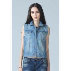 ขาย ซื้อ ออนไลน์ Mc Jeans เสื้อคลุมยีนส์แขนกุด Mjm902700 Blue