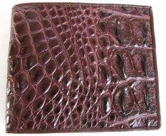 ขาย Mcroc กระเป๋าสตางค์หนังจระเข้แท้ ส่วนกระดูกสันหนัง สีน้ำตาล Mcroc เป็นต้นฉบับ