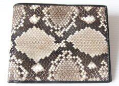 ซื้อ Mcroc กระเป๋าสตางค์หนังงูแท้ สีธรรมชาติ Mcroc