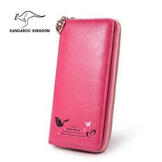 ขาย ทรูออสเตรเลียจิงโจ้กระเป๋าสตางค์เกาหลีหญิงกระเป๋าสตางค์หนังความจุขนาดใหญ่ Mei Kangaroo Kingdom ถูก