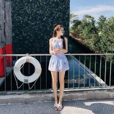 ขาย ซื้อ นอกจากนี้ยัง Meishan ว่ายน้ำชุดว่ายน้ำขนาดเล็กสดชุดว่ายน้ำหญิงสยามเป็นบาง สีขาวลาย ฮ่องกง