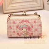 ขาย Melody ขนาดเล็กกระเป๋าสตางค์เกาหลีศูนย์กระเป๋าสตางค์หญิงใหม่นักเรียน ห่วงโซ่กระเป๋ามือพก Mymelody เป็นต้นฉบับ