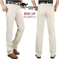 ผู้ชาย 100 ฝ้ายตรงกางเกงสินค้ากางเกงชายไม่ใช่เหล็กบางธุรกิจชุดสูทกางเกง นานาชาติ ถูก