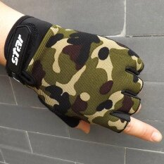 Men Antiskid Cycling Bike Gym Fitness Sports Half Finger Gloves Ce Xxl - Intl.