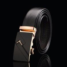 ขาย Men Belts High Quality Leather Belt Man Fashion Male Automatic Buckle Strap T608 Intl Other Brands ใน จีน