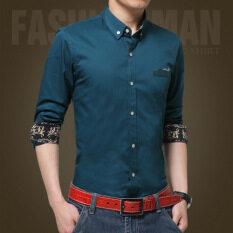 ชายสบายๆอย่างเป็นทางการธุรกิจเสื้อแขนยาวชายพอดีเสื้อ นานาชาติ ใน จีน