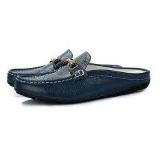 ราคา รองเท้าผู้ชายแบบสบายๆฤดูร้อนระบายอากาศได้สบายๆรองเท้าลื่นนุ่มชายรองเท้าส้นสูงกลางแจ้ง นานาชาติ ใหม่