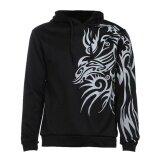 ราคา Men Casual Slim รูปแบบมังกรพิมพ์ Hooded Sweatshirt ฤดูใบไม้ร่วง ออนไลน์ จีน