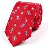 ส่วนลด Men Christmas Tie Jacquard Weave Classic Wedding Fashion Party Necktie Intl