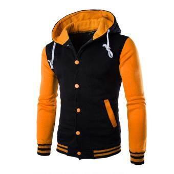 เสื้อผู้ชายเสื้อแจ็คเก็ตตัวนอกเสื้อกันหนาวฤดูหนาว Slim Hoodie เสื้อกันหนาวมีฮู้ด