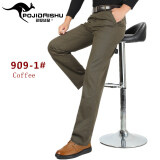 ราคา Men Cotton Casual Straight Pant Cargo Trousers Male Non Iron Thick Business Formal Suit Pant Intl ถูก