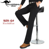 ขาย Men Cotton Casual Straight Pant Cargo Trousers Male Non Iron Thick Business Formal Suit Pant Intl เป็นต้นฉบับ