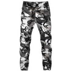 ขาย Men Cotton Skinny Joggers Camo Pants Camouflage 2 Intl ออนไลน์ ใน จีน