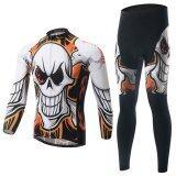 ราคา Men Cycling Jersey And Pants Set Long Sleeve Quick Dry Breathable Gel Padded Intl เป็นต้นฉบับ Xintown