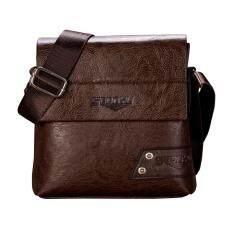 ผู้ชายแฟชั่นกระเป๋าถือสไตล์ธุรกิจแบบ Dual และกระเป๋าสะพายไหล่ Tote กระเป๋าแบบฝาเปิด - Intl.