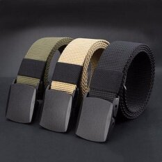 ราคา Men Fashion Outdoor Belts Sports Military Tactical Nylon Waistband Canvas Web Belt Hot Sale Waist Belt Black Intl เป็นต้นฉบับ Unbranded Generic